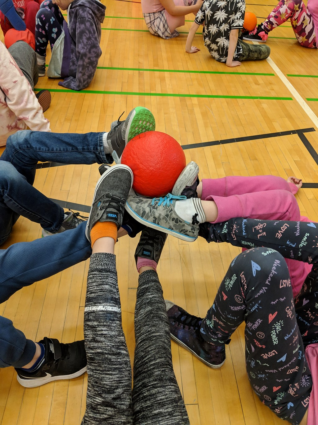 0be0d5f2d74 Students participated in a number of cooperative games this week in gym.  They worked in groups and were faced with different challenges