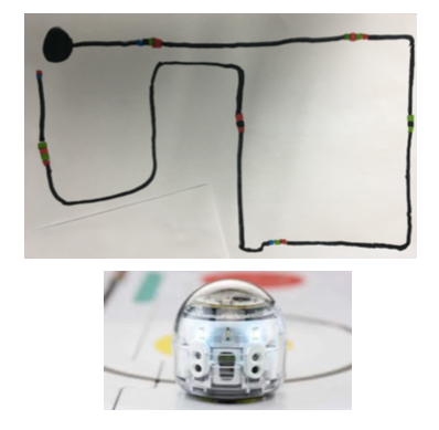 039dff5fb Below is an example of a pathway that was successful because the messages  (lines, dots) were clearly communicated to the Ozobot.
