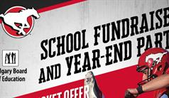 CBE & Calgary Stampeders | School Fundraiser & Year-End Party