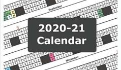2020-21 School Calendar for DGS
