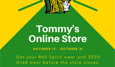 Buy BHS Gear at Tommy's Online Store!