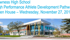 Open House Nov 27 - High Performance Athlete Development Pathway