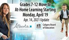 Grades 7-12 Move to At-Home Learning Starting Monday, April 19