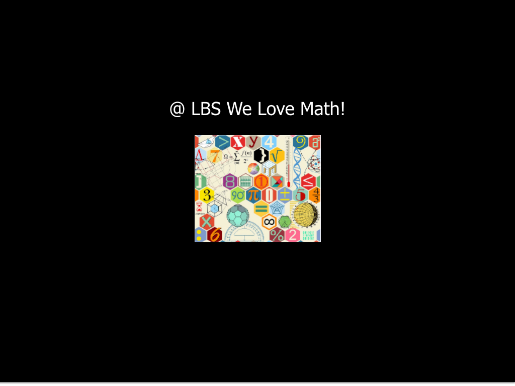 Math Week at LBS